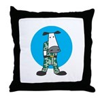 Military Cow in Camo Throw Pillow