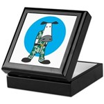 Military Cow in Camo Keepsake Box