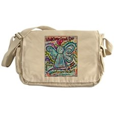 Colorful Cancer Angel Messenger Bag