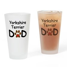Yorkshire Terrier Dad Drinking Glass