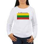 Lithuania Lithuanian Flag Womens Long Sleeve Shirt