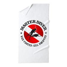 Master Diver (Round) Beach Towel