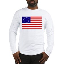 Betsy Ross Flag Long Sleeve T-Shirt
