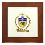 MEAUX Family Crest Framed Tile