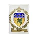 MEAUX Family Crest Rectangle Magnet