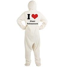 I Heart Giant Schnauzers Footed Pajamas