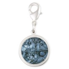 Metal Chest Silver Round Charm