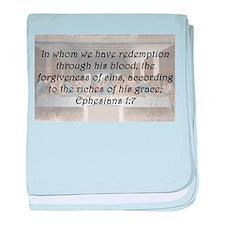 Ephesians 1:7 baby blanket