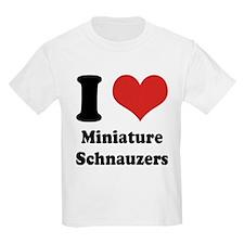 I Heart Miniature Schnauzers T-Shirt