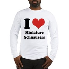 I Heart Miniature Schnauzers Long Sleeve T-Shirt
