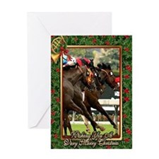 Thoroughbred Racehorse Christmas Greeting Card