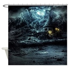 Gothic Landscape Shower Curtain