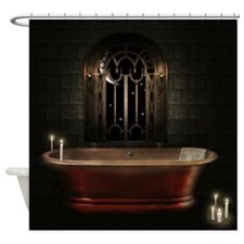 Gothic Bathtub Shower Curtain
