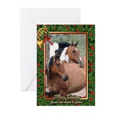 Paint Horse Christmas Greeting Cards (Pk of 20)