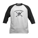 Love & Peace Skull Kids Baseball Jersey