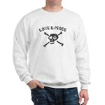 Love & Peace Skull Sweatshirt