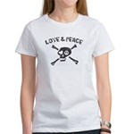 Love & Peace Skull Women's T-Shirt