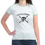 Love & Peace Skull Jr. Ringer T-Shirt