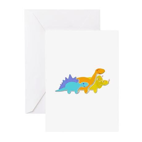 Cute Cartoon Dinosaurs Greeting Cards (Pk of 10)