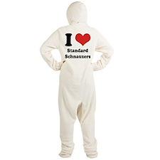 I Heart Standard Schnauzers Footed Pajamas