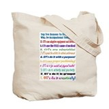Up Late OT Top 10 Tote Bag
