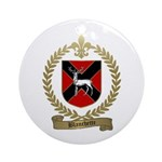 BLANCHETTE Family Crest Ornament (Round)