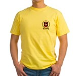 BLANCHETTE Family Crest Yellow T-Shirt