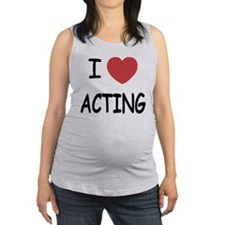 ACTING.png Maternity Tank Top