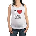 HUNGRYCROCS.png Maternity Tank Top