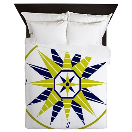Compass Rose Queen Duvet