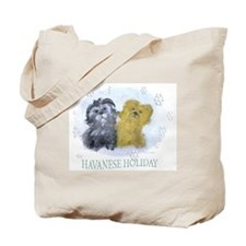 Havanese Holiday Tote Bag