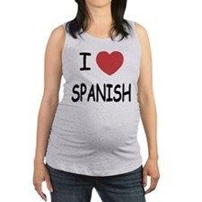 SPANISH.png Maternity Tank Top