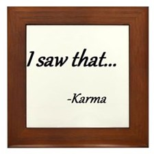 Karma Framed Tile