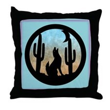 Coyote Moon Throw Pillow