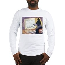 Border Collie dog writer Long Sleeve T-Shirt
