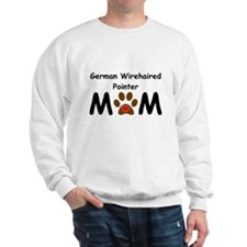 German Wirehaired Pointer Mom Sweatshirt