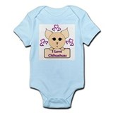 I Love Chihuahuas Cartoon (Pink) Infant Bodysuit