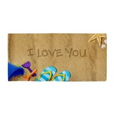 Beach I Love You Beach Towel
