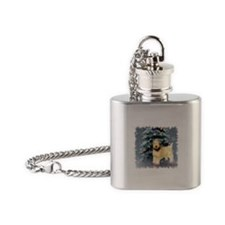 Soft Coated Wheaten Terrier Flask Necklace
