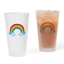 Rainbow & Clouds Drinking Glass