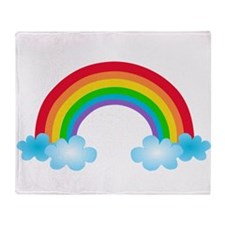 Rainbow & Clouds Throw Blanket