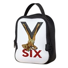 V6 Engine Pinup Neoprene Lunch Bag