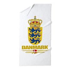 Denmark COA(Flag 10).png Beach Towel