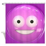 Candy Smiley - Pink Shower Curtain