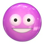 Candy Smiley - Pink Round Car Magnet