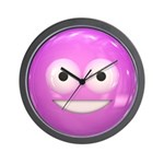 Candy Smiley - Pink Wall Clock