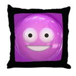 Candy Smiley - Pink Throw Pillow
