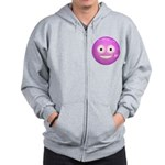 Candy Smiley - Pink Zip Hoodie