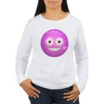 Candy Smiley - Pink Women's Long Sleeve T-Shirt