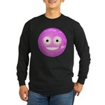 Candy Smiley - Pink Long Sleeve Dark T-Shirt